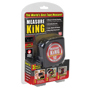 ONTEL MK-MC12/4 Measure King Pro 3-in-1 Digital Tape Measure String Mode, Sonic Mode & Roller Mode