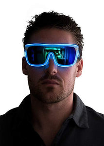 BUY 2 GET 1 FREE - Neon Nightlife Tinted Single Lens Tron Style Light Up Glasses
