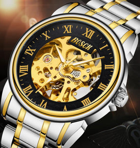 BAOXINI double-sided hollow automatic mechanical watch