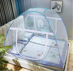 Automatically spread mosquito nets