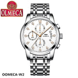 OLMECA Small second & Date Pink Gold Watch FREE DELIVERY