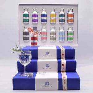 Gin in a Tin - Valentine's 12 Gin Gift Pack
