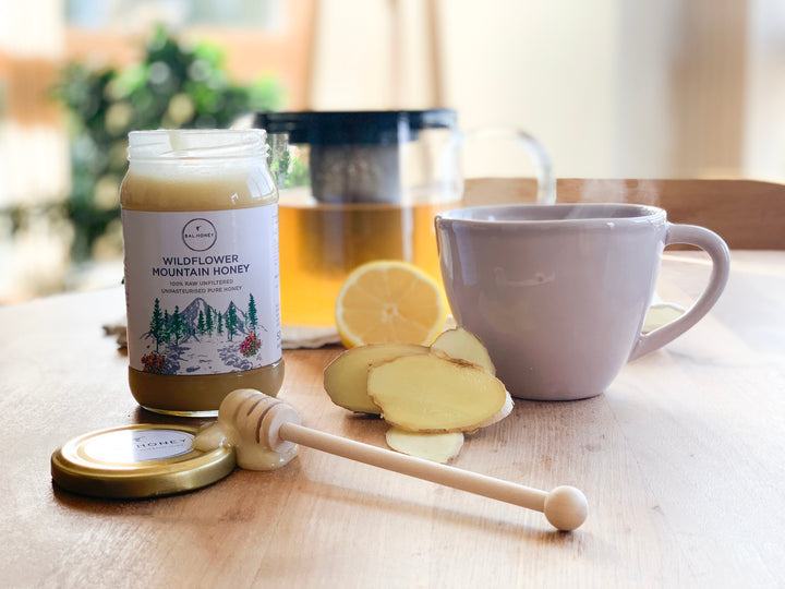 What are the main benefits of Wildflower Mountain Honey?  15+ Active honey with significant anti-microbial powers Strong antibacterial anti-inflammatory properties Natural antibiotic