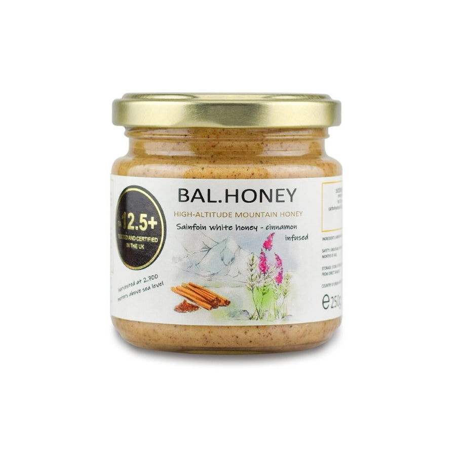 SAINFOIN ACTIVE 12.5+ WHITE HONEY – CINNAMON INFUSED 250G