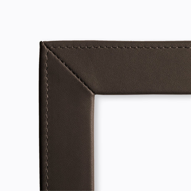 Coco Brown Slim Classic Leather Photo Frame (detail)