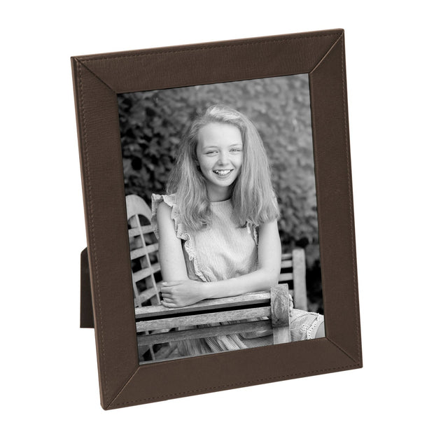 Coco Brown Slim Classic Leather Photo Frame