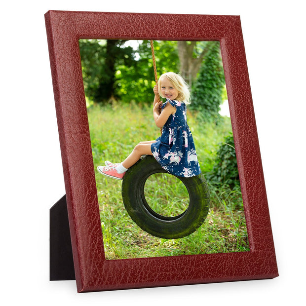 Burgundy Moroccan Leather Photo Frame