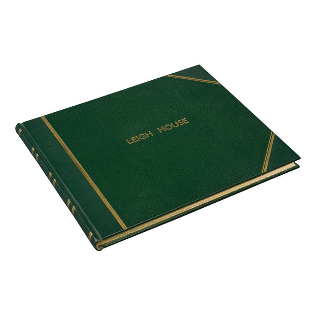 Green Traditional Visitors Book