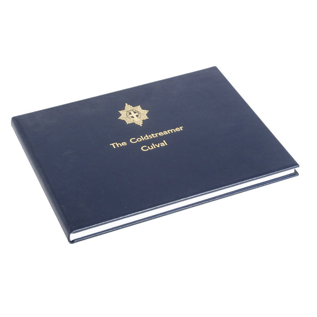 Navy Blue Tuscan Leather Visitors Book