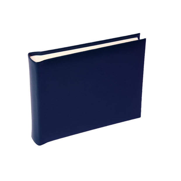 Navy Blue Small Leather Photo Album