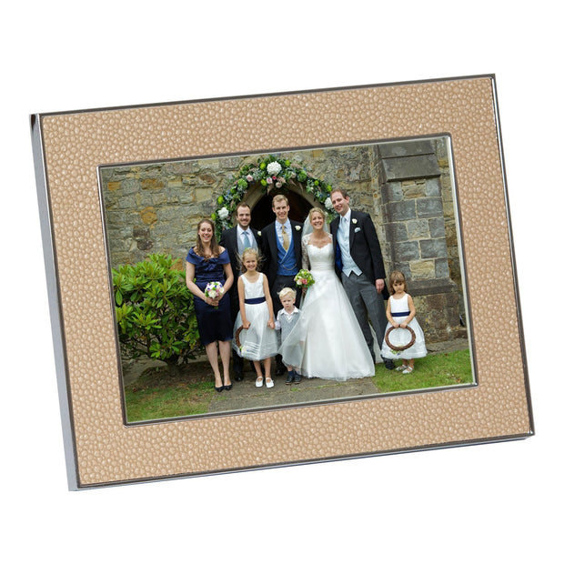 Sand Shagreen Photo Frame