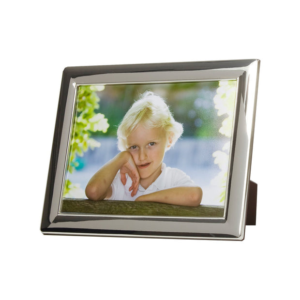 Silver Plate Bevelled Photo Frame
