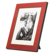 Single Red Coloured Wood Photo Frame