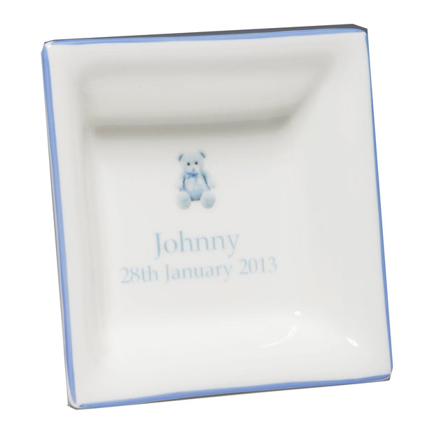 Blue Children's Personalised China Dish