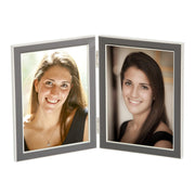 Taupe Double Hinged Enamel Photo Frame
