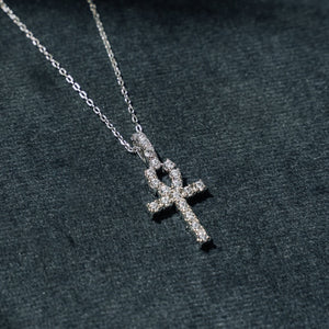 Mini Ankh Pendant in Sterling Silver