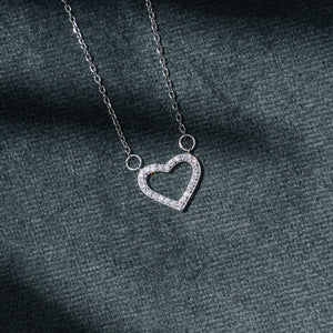 Mini Heart Pendant in Sterling Silver