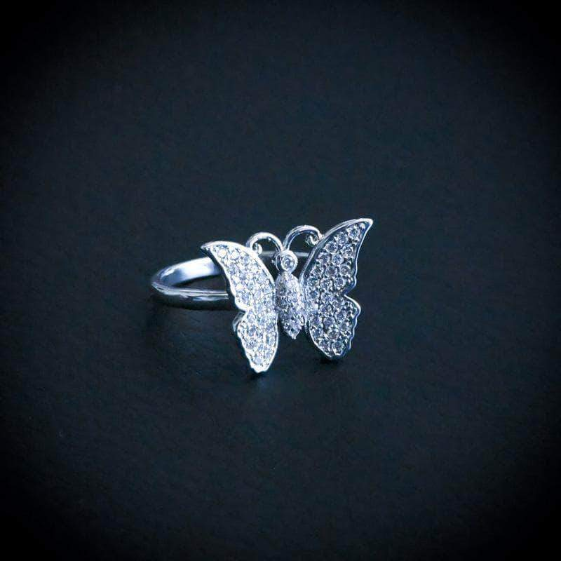 Diamond Butterfly Promise Ring