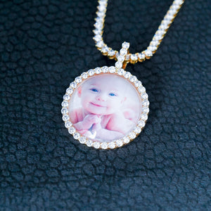 Custom 3D Bubble Picture Necklace