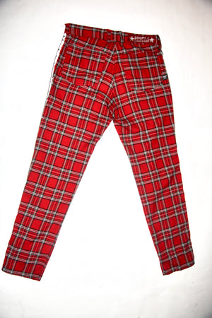 Painted Plaid Pants
