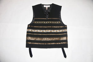 Black and Gold Vest