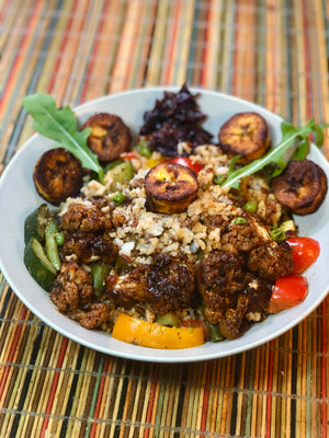 Jamaican Jerk Cauliflower with Coconut rice