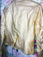 Bernardo Gold Motorcycle Jacket