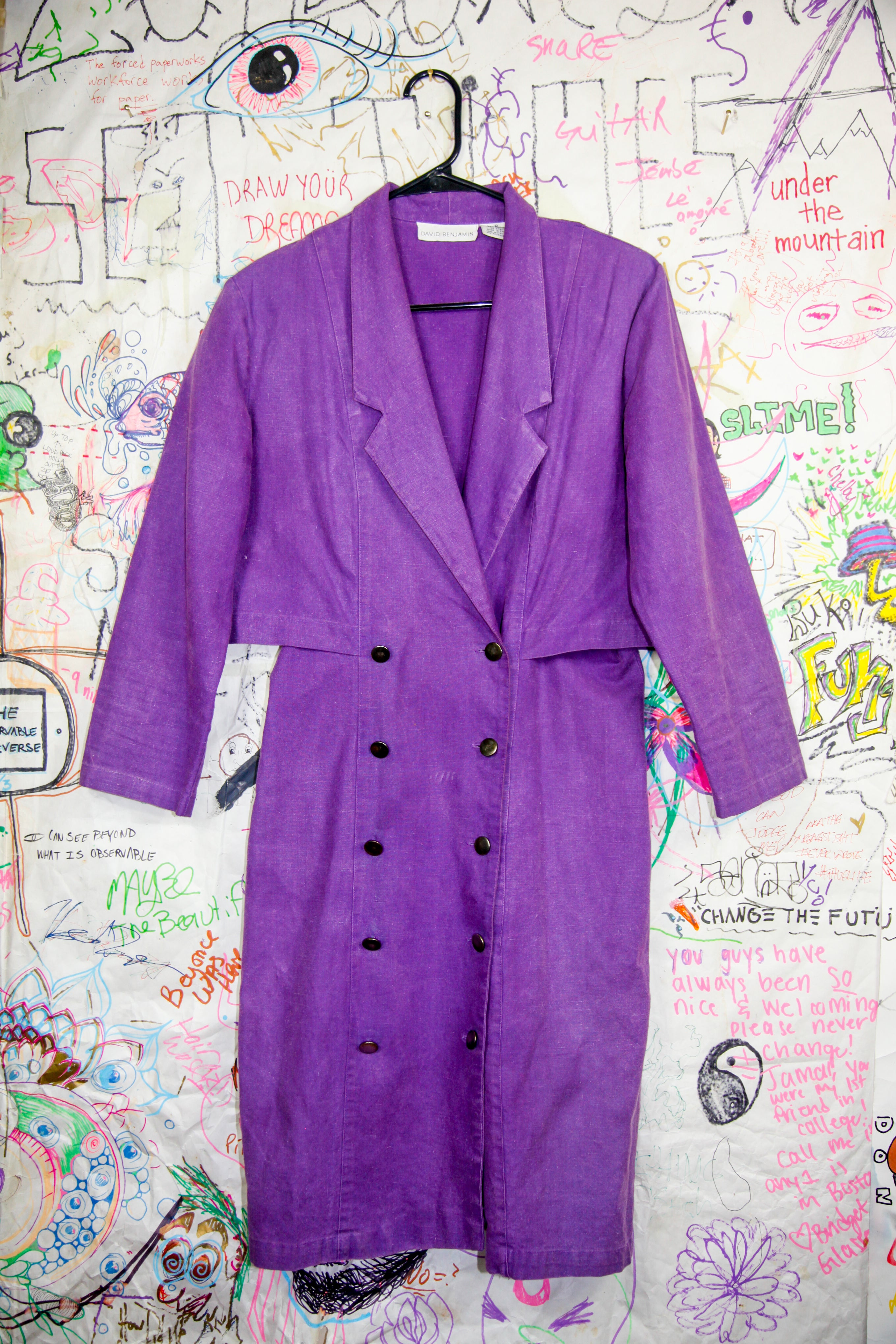 David Benjamin Purple Trench Coat