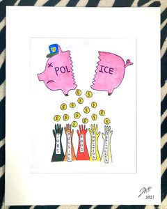 Piggy Bank - Matted Print