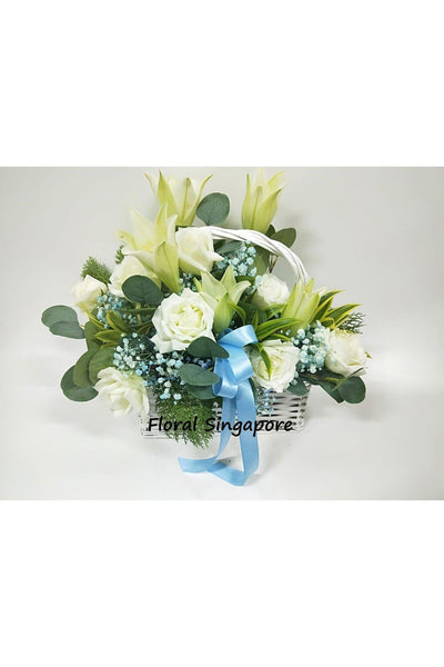 FB 02 - Ever Lasting Love Flower Basket - Floral Singapore