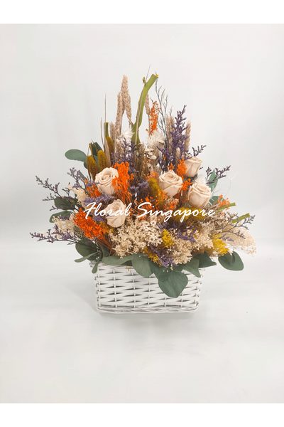 OYR 07 - Preserved Basket - Floral Singapore