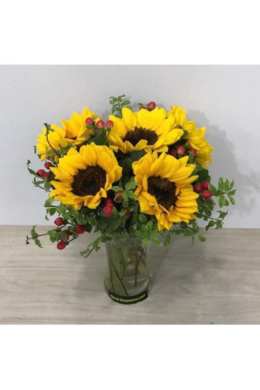 FIV 09 - Sunflower in Vase - Floral Singapore