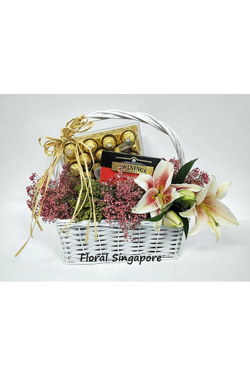 GB 09 - Indulgence Gift Basket - Floral Singapore