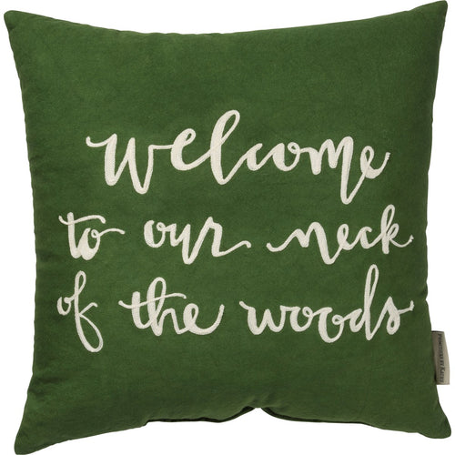 Our Neck of the Woods Pillow