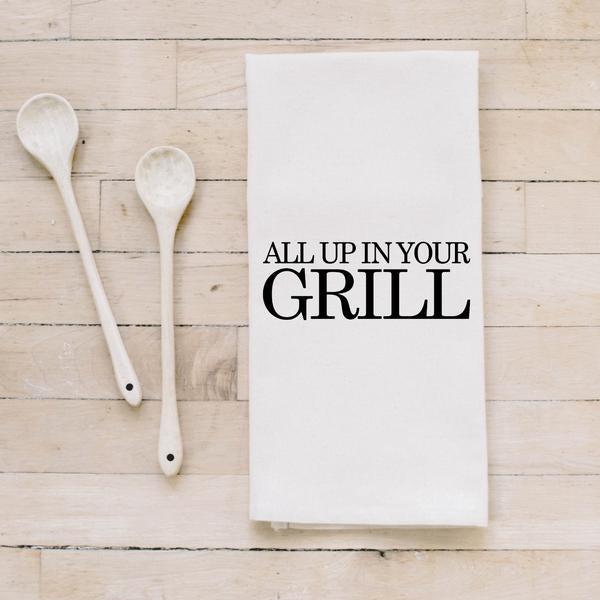 All Up In Your Grill Bar Towel