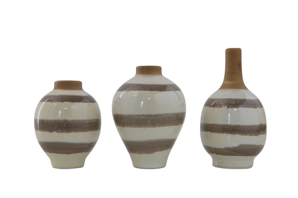 Striped Bud Vases (set of 3)