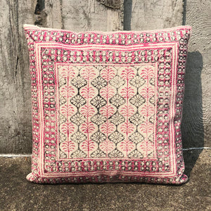Pink Gray Scallop Pillow