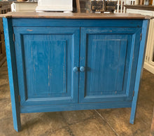 Load image into Gallery viewer, Samantha Dark Blue Accent Cabinet