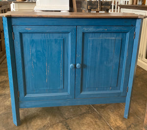 Samantha Dark Blue Accent Cabinet