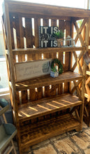 Load image into Gallery viewer, Grayson Rustic Honey Bookshelf