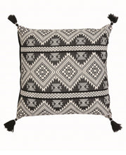 Load image into Gallery viewer, Hand Woven Black & Cream Pillow