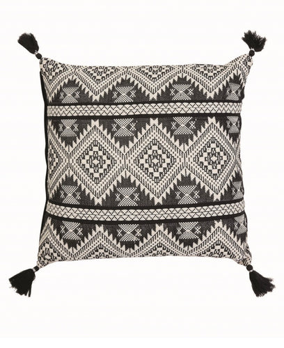 Hand Woven Black & Cream Pillow