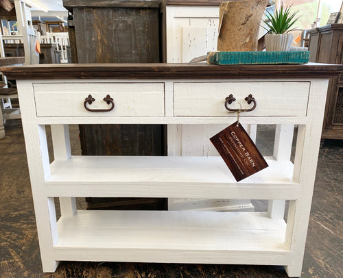 Cameron Simply White Accent Table