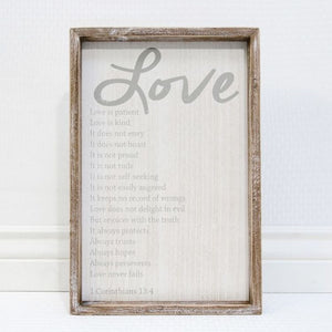 Love Is... wood sign