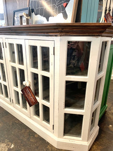 Tanner Large Distressed White Cabinet