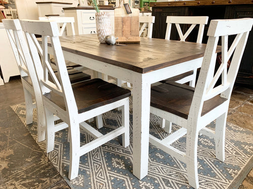 Hudson 7 piece White Table Set