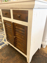 Load image into Gallery viewer, Kenzie White & Tobacco Accent Cabinet