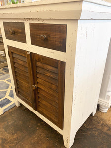 Kenzie White & Tobacco Accent Cabinet