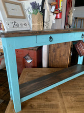 Load image into Gallery viewer, Chloe Turquoise Narrow Sofa Table