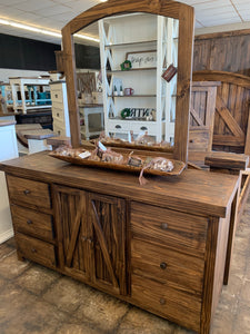 Farmhouse Dresser with Mirror